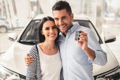 Het bezoekende autohandel drijven royalty-vrije stock foto's