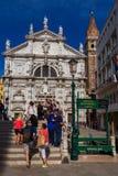 Het bezoekende historische centrum van Venetië stock foto's