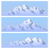 Het bichromatic eenvoudige beeld van bergen. Stock Afbeelding
