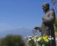 Het bidden aan Etna Royalty-vrije Stock Fotografie