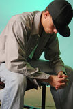 Het bidden de jeugd Stock Foto's