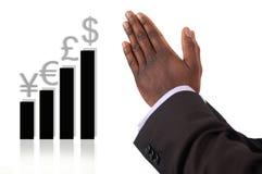 Het bidden en het Hopen voor Succes Stock Afbeelding