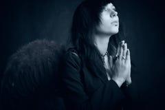 Het bidden engel Royalty-vrije Stock Foto's