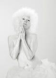 Het bidden engel. Stock Foto's