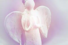 Het bidden engelenachtergrond Stock Afbeeldingen