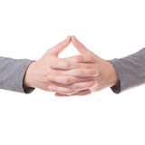 Het bidden geïsoleerd handengebaar Royalty-vrije Stock Afbeelding