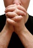 Het bidden van de mens Stock Foto's
