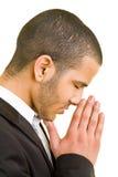 Het bidden van de mens Stock Fotografie