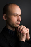Het bidden van de mens Stock Foto