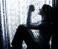 Het bidden van de vrouw Stock Foto