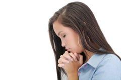 Het bidden van de vrouw royalty-vrije stock afbeelding