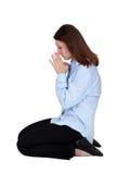 Het bidden van de vrouw royalty-vrije stock foto