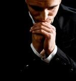 Het bidden van de zakenman royalty-vrije stock foto's