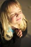 Het bidden van het meisje Royalty-vrije Stock Afbeelding
