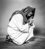 Het bidden van Jesus-Christus Royalty-vrije Stock Fotografie