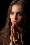Het bidden van repentant vrouw Royalty-vrije Stock Afbeelding