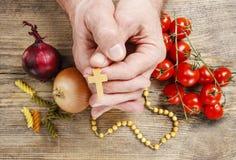 Het bidden voor goede oogsten Royalty-vrije Stock Fotografie
