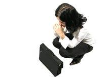 Het bidden voor nieuwe klanten Royalty-vrije Stock Fotografie