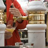Het bier Stock Foto's