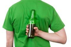 Het bier bemant erachter terug Stock Afbeelding