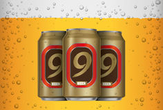 Het bier kan Stock Foto