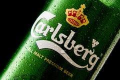 Het bier van Carlsberg Stock Afbeelding