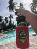 Het bier van Thailand Chang royalty-vrije stock foto