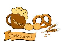 Het bierfestival van Oktoberfest De illustratie van de kleur Illustratie voor feestvector vector illustratie