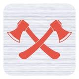 Het bijlpictogram Bijlsymbool Stock Fotografie
