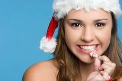 Het Bijten van het meisje Suikergoed Royalty-vrije Stock Afbeelding