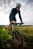 Het biking van de mens royalty-vrije stock foto's