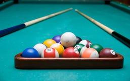 Het Biljart van de pool royalty-vrije stock foto