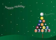 Het biljartachtergrond van Kerstmis Stock Foto's