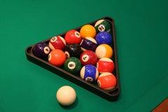 Het biljartballen van de pool Stock Fotografie