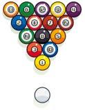 Het biljartballen van de pool Stock Afbeeldingen