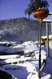Het bimodale boslandbouwbedrijf in heilongjiangprovincie - Sneeuwdorp Royalty-vrije Stock Foto's