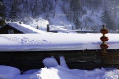 Het bimodale boslandbouwbedrijf in heilongjiangprovincie - Sneeuwdorp Royalty-vrije Stock Afbeeldingen