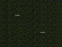Het binaire binnendringen in een beveiligd computersysteem als achtergrond Royalty-vrije Stock Foto