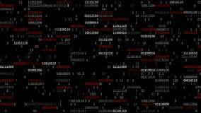Het binaire codescherm stock videobeelden