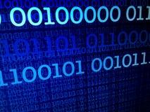 Het binaire concept van de gegevensstroom, aantallen, grote gegevens, informatie Stock Fotografie