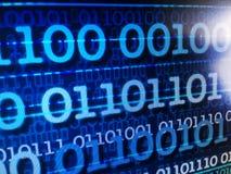 Het binaire concept van de gegevensstroom, aantallen, informatie - abs Royalty-vrije Stock Afbeelding