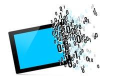 Het binaire getal van de tabletcode royalty-vrije illustratie