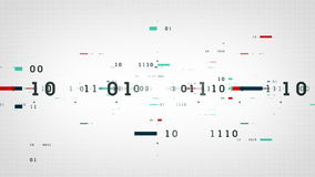 Het binaire Wit van Gegevensbeetjes stock illustratie