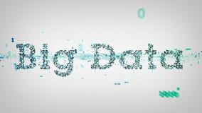 Het binaire Wit van Sleutelwoorden Grote Gegevens vector illustratie