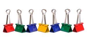 Het bindmiddelenklemmen van de kleur Stock Foto