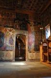 Het binnen klooster van Nikolaos van Agio's, Meteora, Griekenland royalty-vrije stock fotografie