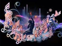 Het binnen Leven van Muziek Stock Afbeeldingen