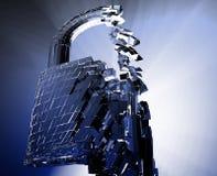 Het binnendringen in een beveiligd computersysteem omleidingsveiligheid stock illustratie
