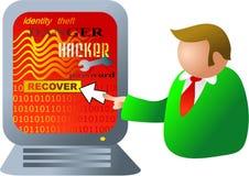 Het binnendringen in een beveiligd computersysteem van de computer vector illustratie