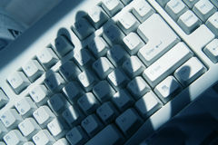 Het Binnendringen in een beveiligd computersysteem van de computer Stock Fotografie